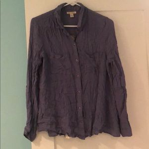 Blue Miami Button Down with Lace Back Size L